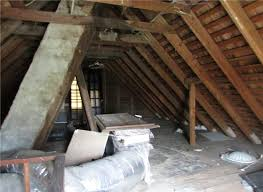 attic in house. they say new paint and flooring will freshen up a house the attic above could use but perhaps not sloppy or bright like in t