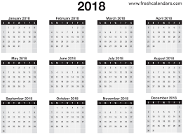 month template 2018 printable 2018 calendar templates and images