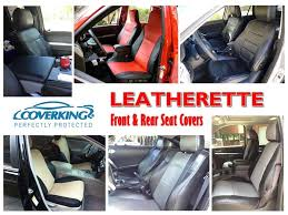 details about coverking premium leatherette front rear custom fit seat covers for ford f150