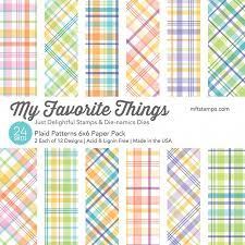 Patterned Paper Classy My Favorite Things Plaid Patterns Patterned Paper Pack 48x48