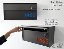 mid century modern mailbox mounted mailbox