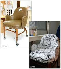 reupholster office chair diy reupholstered rolling office chairs are really cherry before after painted rolling desk reupholster office chair