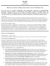 process improvement resumes resume sample 15 manufacturing and operations executive resume