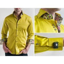 Yellow Designer Shirt Mens Bertigo Shirts Fitted Shirt Designer Shirts For Men