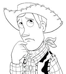 toy story woody and jessie coloring pages page sad face
