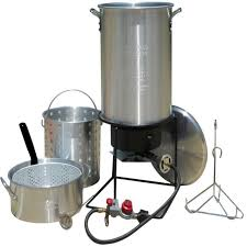 best complete kit king kooker portable outdoor propane gas deep frying boiling package