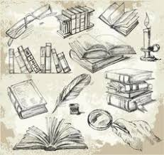 236x223 drawings of books set of old books drawings pile of books open