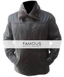 jacketsmen s black designer leather jacket with fur collar previous
