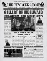 Harry Potter Newspaper Template Daily Prophet Newspaper Template Harry Potter Word