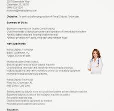 Dialysis Technician Resume 11 Download Dialysis Technician Resume ...