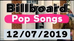 Pop Charts 2019 Billboard Top 40 Pop Songs December 7 2019
