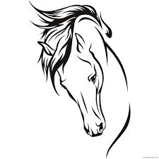 Learn facts about police horses and complete the connect the dots activity to finish the picture of the horse and police officer in this horse fun page. Horse Head Coloring Pages Horse Head 3 Jpg Printable Coloring4free Coloring4free Com