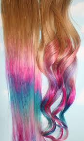 Ombre Tie Dye Hair Tips Set