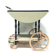 vintage tea cart wheels for