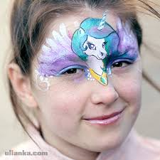 aberdeen scotland my little pony face painting for birthday party event hand painted artwork