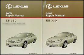 2005 lexus es 330 wiring diagram manual original 2005 lexus es 330 repair shop manual original 2 volume set 229 00