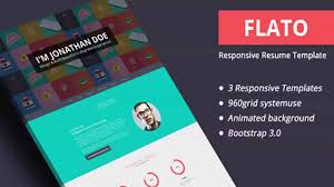 Flato Responsive Resume Personal Portfolio Temp Website Cv Template
