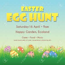 Easter Egg Hunt Poster Invitation Leaflet Template Design