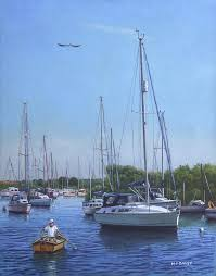 christchurch painting sailing boats at christchurch harbour by martin davey