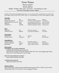 How To Make A Resume In Word Gorgeous Template Download Acting Template Pdf Word Wikidownload Theatre R