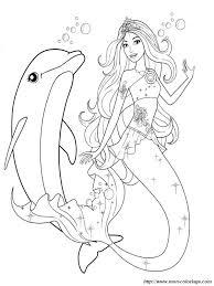 Colorare Delfino Disegno Barbie Come Una Sirena