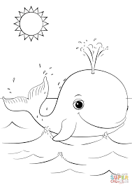Small Picture Cute Cartoon Whale coloring page Free Printable Coloring Pages
