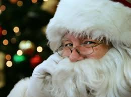 Image result for photo of Santa peeking