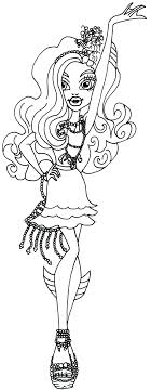Small Picture Free Printable Monster High Coloring Pages Lagoona Blue Black