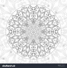 Mandala Coloring Pages Adults Older Children Stock Vector Royalty
