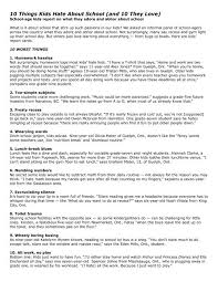 10 things kids about and