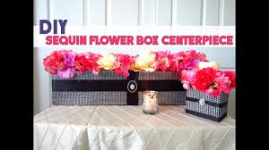 diy sequin bling flower box wedding sweetheart table