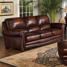 traditional leather sofas.  Leather Leather Italia USA James Traditional Sofa With Rolled Arms And  Nailhead Trim Throughout Sofas