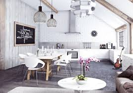 Industrial Kitchen Kitchen Industrial Kitchen Room Style With Metallic Lampshades