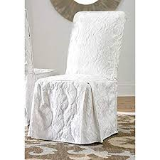 sure fit matele damask dining room chair cover white
