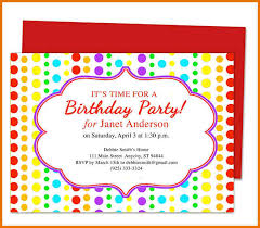 Invitation For Party Template