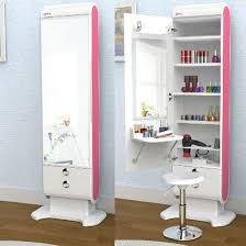 makeup vanity with led lights. elegani makeup hair organizer table led lights shelf drawer body beauty mirror vanity with led