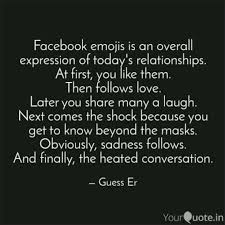 Love Quotes Facebook Extraordinary Facebook Emojis Is An Ove Quotes Writings By Sricharan R
