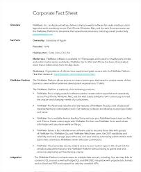 Fact Sheet Templates In Free Premium Business Format Template Sample