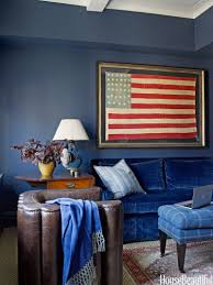 Red And Blue Living Room Decor Patriotic Decor For 4th Of July Red White And Blue Decorating