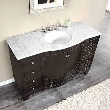 white bathroom vanities with marble tops. Exellent Tops Silkroad Exclusive Carrara White Marble Stone Top Bathroom Single Sink  Cabinet Vanity  Overstock Shopping Great Deals On  For Vanities With Tops R