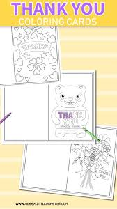 Free Printable Thank You Postcards Printable Colouring Thank You Cards For Kids Messy Little