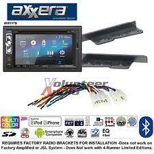 fj cruiser radio parts accessories axxera 6 2 double din dvd bluetooth mp3 usb aux 200w radio install kit harness fits fj cruiser