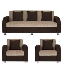 indian sofa set designs for small rooms elegant bharat lifestyle italia cream brown fabric 5 seater