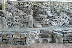 basalt dry stack retaining walls