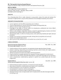 perioperative nurse sample resume - Perioperative Nurse Resume