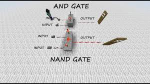 Geoffs Minecraft And Nand Gate Tutorial Youtube wiring diagram