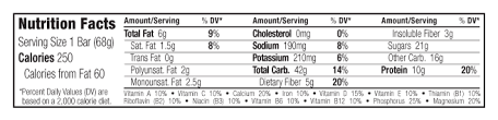 peanut toffee buzz nutritional facts