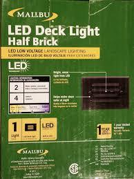 Malibu Led Deck Light Half Brick Malibu Led Deck Light Half Brick Bronze 8406 2403 01