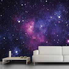 Galaxy wall mural, 13\u0027x9\u0027. $54 trying to think of cool wall decor ...