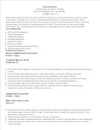 Medical Administrative Assistant Resume Templates At
